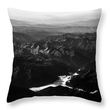 Rocky Mountain Morning Throw Pillow by John Daly