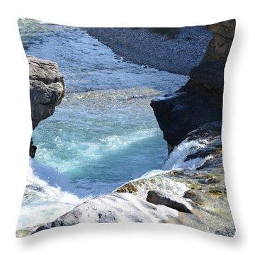 Elbow Falls Water  1.1 Throw Pillow