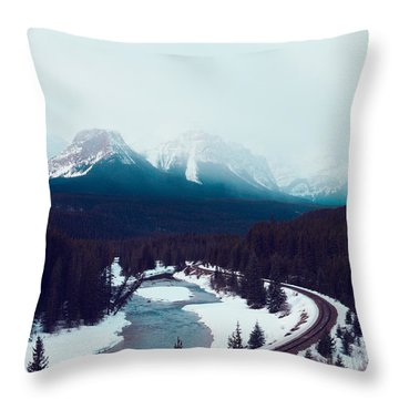 Throw Pillow featuring the photograph Rocky Mountains by Kim Fearheiley