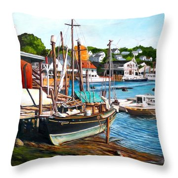 Rocky Neck October Throw Pillow by Eileen Patten Oliver