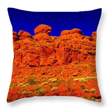 Throw Pillow featuring the photograph Rocky Outcrop by Mark Blauhoefer