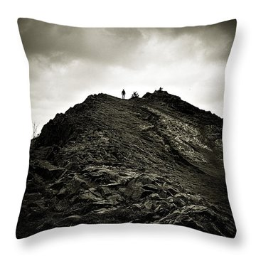 Rocky Pathway To Scotland Throw Pillow