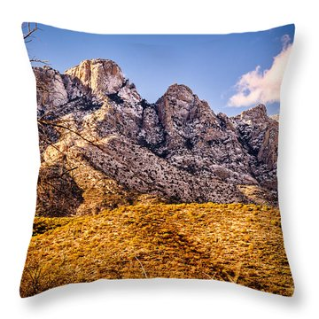 Throw Pillow featuring the photograph Rocky Peaks by Mark Myhaver