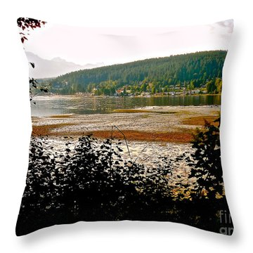 Throw Pillow featuring the photograph Rocky Point Port Moody by Sher Nasser