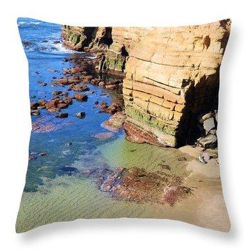 Rocky Point Sunset Cliffs Throw Pillow