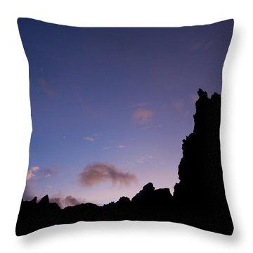 Rocky Purple Sunset Throw Pillow by Charmian Vistaunet