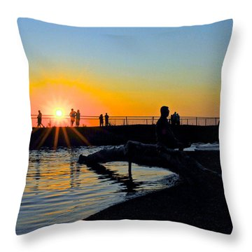 Rocky River Ohio Throw Pillow by Frozen in Time Fine Art Photography