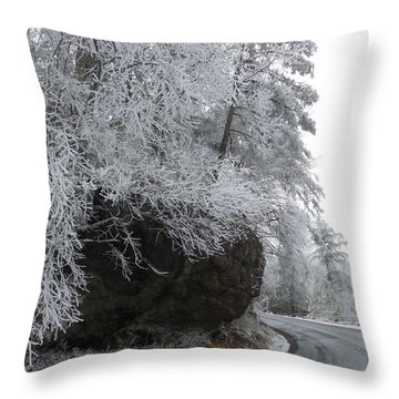 Rocky Road On Ice Throw Pillow