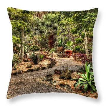 Throw Pillow featuring the photograph Rocky Road by Tyson Kinnison