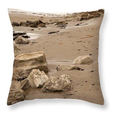 Rocky Shore Throw Pillow by Amanda Barcon