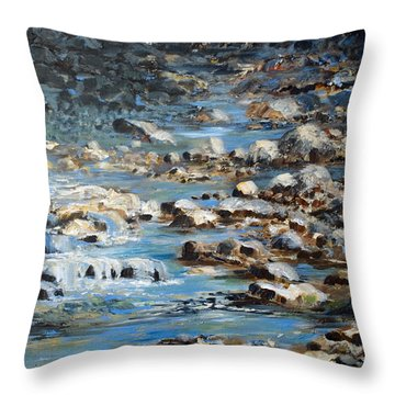 Rocky Shore Throw Pillow by Joanne Smoley