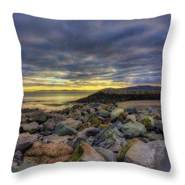Rocky Sunrise Throw Pillow by Ian Mitchell