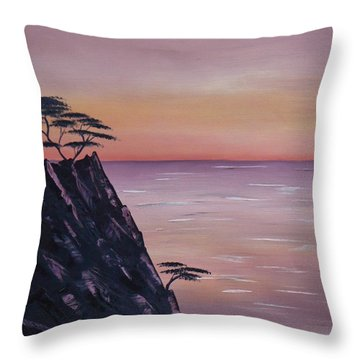 Rocky Sunset Throw Pillow by Barbara St Jean