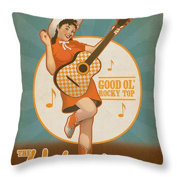 Rocky Top Tennessee Throw Pillow