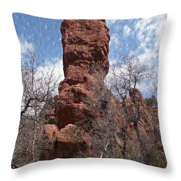 Rocky Totem Throw Pillow