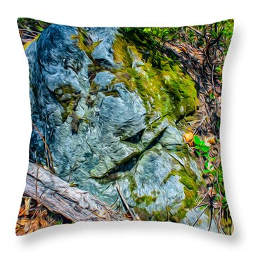 Rocky Warrior Throw Pillow by Omaste Witkowski