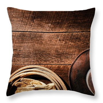 Rodeo Background Throw Pillow by Olivier Le Queinec