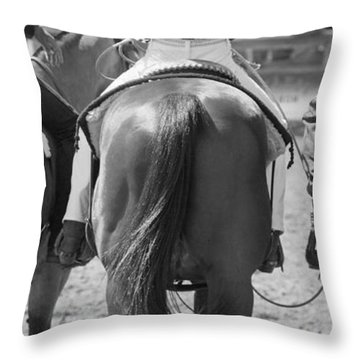 Rodeo Bums Throw Pillow by Michelle Wrighton