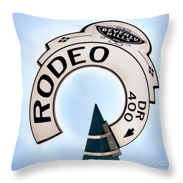 Rodeo Drive Sign Circagraph Throw Pillow
