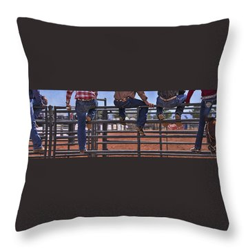 Rodeo Fence Sitters Throw Pillow