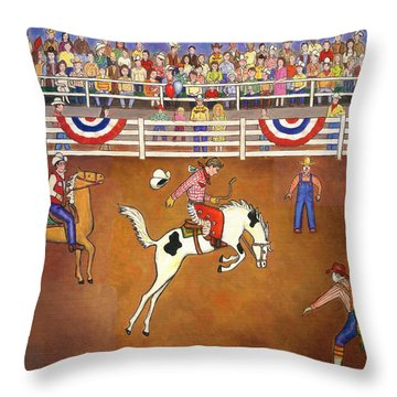 Rodeo One Throw Pillow by Linda Mears