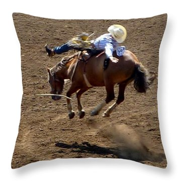 Rodeo Time Bucking Bronco 2 Throw Pillow