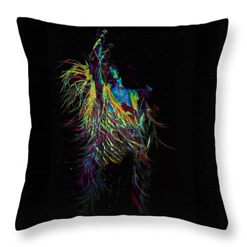 Roger Daltry At Woodstock Throw Pillow by Jane Schnetlage