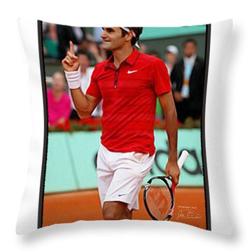 Roger Federer Number One In 2015 Throw Pillow