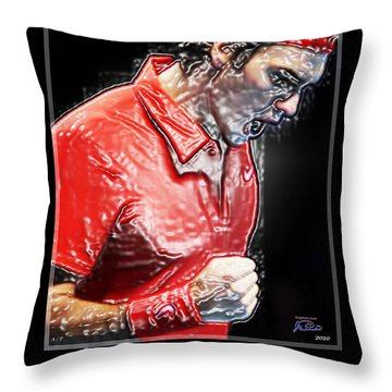 Roger Federer  The Greatest Ever Throw Pillow