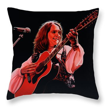 Roger Hodgson Of Supertramp Throw Pillow