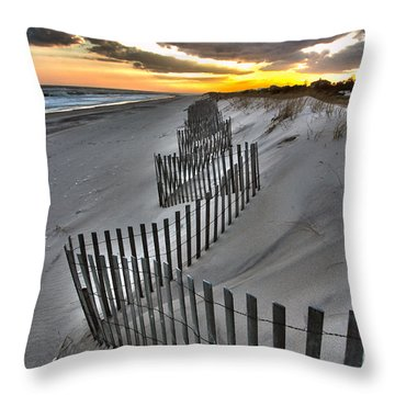 Rogers Beach First Day Of Spring 2014 Throw Pillow