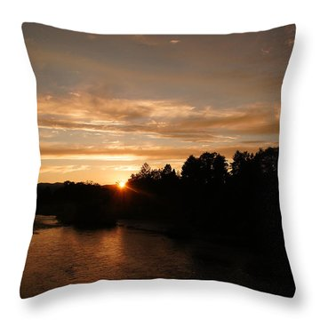 Rogue August Sunset Throw Pillow