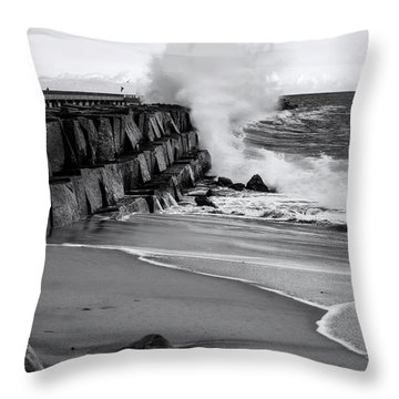 Rogue Bullet Wave Cabrillo Beach By Denise Dube Throw Pillow