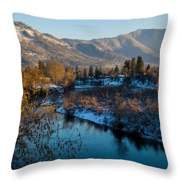 Rogue River Winter Throw Pillow