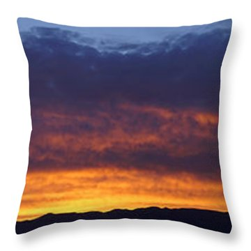 Rogue Valley Sunset Panoramic Throw Pillow by Mick Anderson