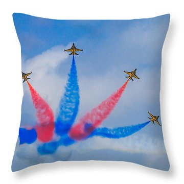 Rokaf Aerobatic Team Throw Pillow