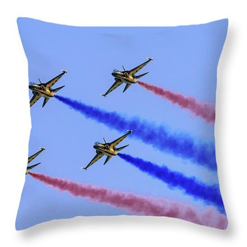 Rokaf Black Eagles Throw Pillow