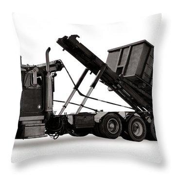 Roll Off Truck  Throw Pillow