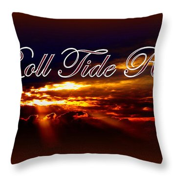 Roll Tide Roll Throw Pillow by Travis Truelove