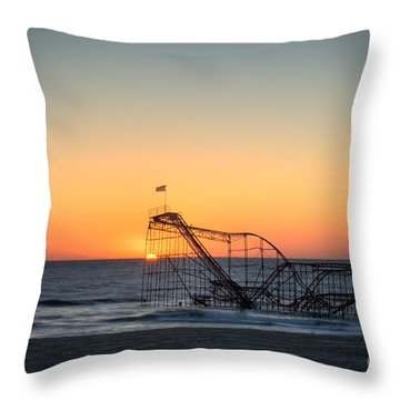 Roller Coaster Sunrise Throw Pillow by Michael Ver Sprill