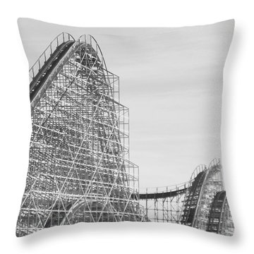 Roller Coaster Wildwood Throw Pillow