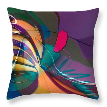 Roller Painting No. 1 Throw Pillow