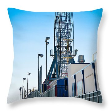 Rollercoaster Throw Pillow by Trish Tritz