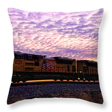 Throw Pillow featuring the photograph Rollin' Around The Bend by Jaki Miller