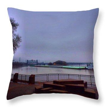Throw Pillow featuring the photograph Rollin Onna River by Robert McCubbin