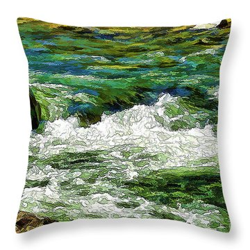 Rolling Along Throw Pillow