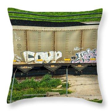 Rolling Art Throw Pillow by Steve Harrington