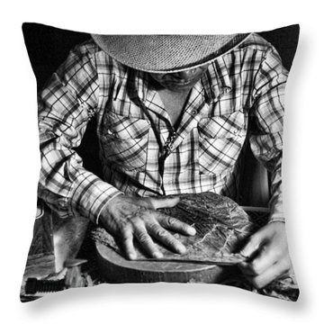 Rolling Cuban Cigars Throw Pillow