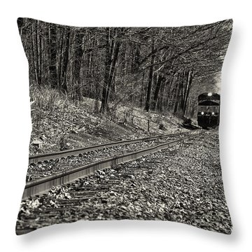 Rolling Down The Tracks Throw Pillow