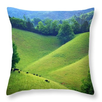 Rolling Hills Of Tennessee Throw Pillow